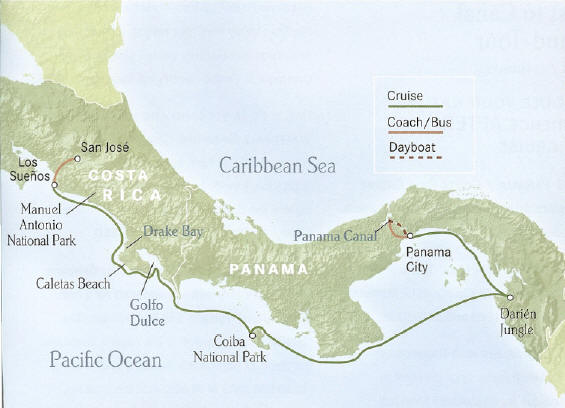 Panama to Costa Rica - Coast to Canal