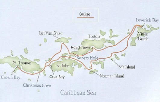 Virgin Islands - Yachtsman's Caribbean - Round Trip St. Thomas