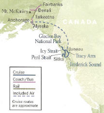 Wilderness Waterways Cruise 9b 13 Days, 12 Nights Fairbanks to Juneau